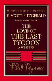 Fitzgerald: The Love of the Last Tycoon fitzgerald the love of the last tycoon