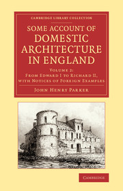 Some Account of Domestic Architecture in England the bookseller