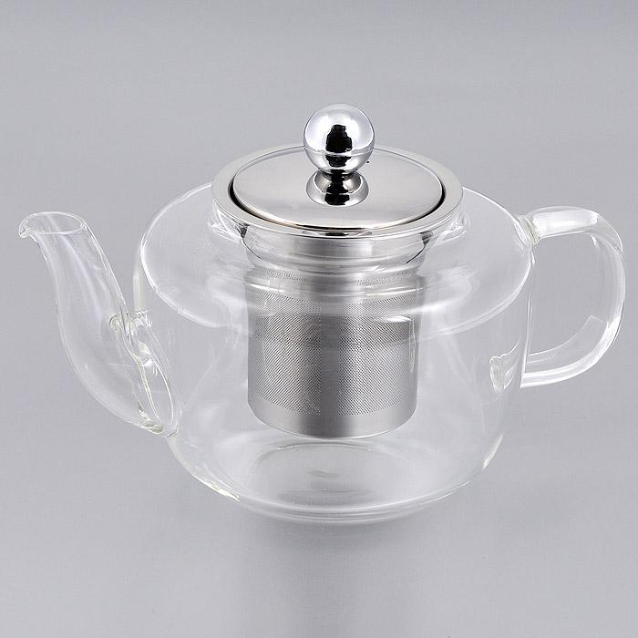 Чайник заварочный Mayer & Boch, 0,8 л. 2077120771Заварочный чайник Mayer & Boch изготовлен из термостойкого боросиликатного стекла - прочного износостойкого материала. Чайник оснащен металлическим фильтром и крышкой.Простой и удобный чайник поможет вам приготовить крепкий, ароматный чай. Дизайн изделия создает гипнотическую атмосферу через сочетание полупрозрачного цвета и хромированных элементов. Можно мыть в посудомоечной машине. Не использовать в микроволновой печи. Диаметр по верхнему краю: 8 см.Высота (без учета крышки): 10 см.Высота фильтра: 7,5 см.