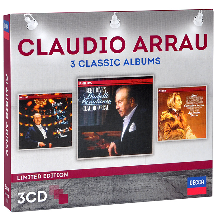 Клаудио Аррау,The London Symphony Orchestra,Колин Дэвис Claudio Arrau. 3 Classic Albums. Limited Edition (3 CD) джесси норман йон викерс the london symphony orchestra колин дэвис jessye norman mahler das lied von der erde