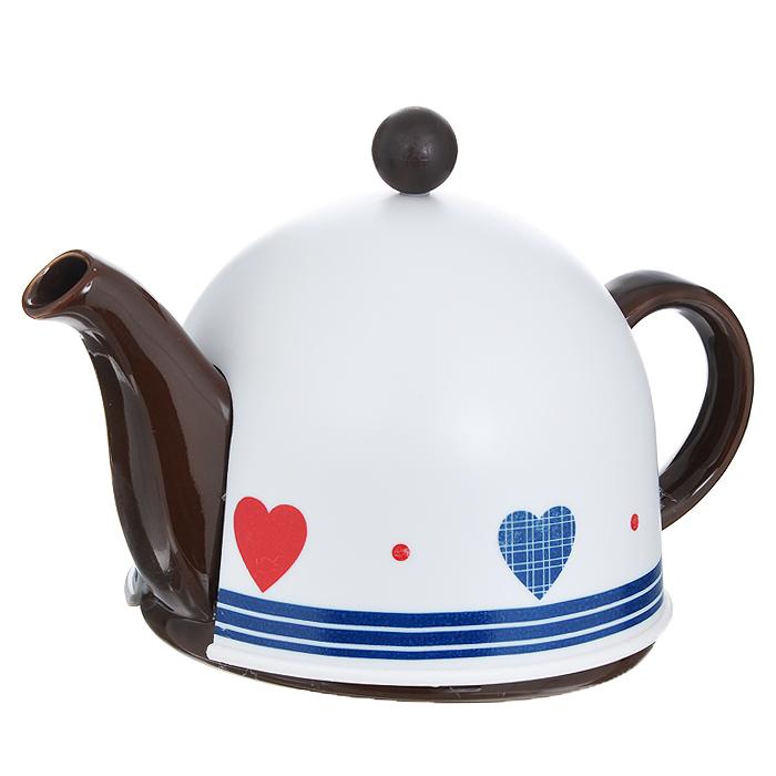 Чайник заварочный Mayer & Boch, с термо-колпаком, цвет: коричневый, 800 мл. 21871 чайник заварочный 750 мл mayer