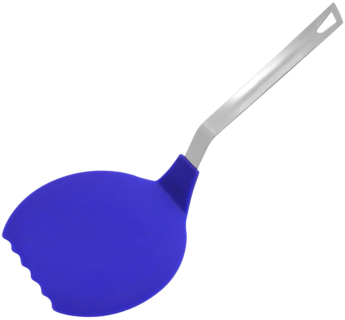 """Кухонная лопатка """"Fackelmann"""" изготовлена из прочного нейлона. Она поможет вам с легкостью перевернуть блины или омлет и снять их со сковороды. Удобная стальная ручка не позволит выскользнуть лопатке из вашей руки, а благодаря небольшой петле можно подвесить изделие на кухне. Практичная и удобная лопатка """"Fackelmann"""" займет достойное место среди аксессуаров на вашей кухне.Изделие устойчиво к температуре до 170°С. Можно мыть в посудомоечной машине. Характеристики:Материал: нейлон, нержавеющая сталь. Длина лопатки: 35 см. Размер рабочей части: 16 см х 14,5 см."""