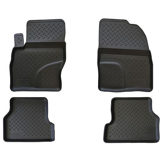 Купить Набор автомобильных ковриков NorPlast , для Skoda Octavia A7, 2013-, в салон, полиуретан, 4 шт