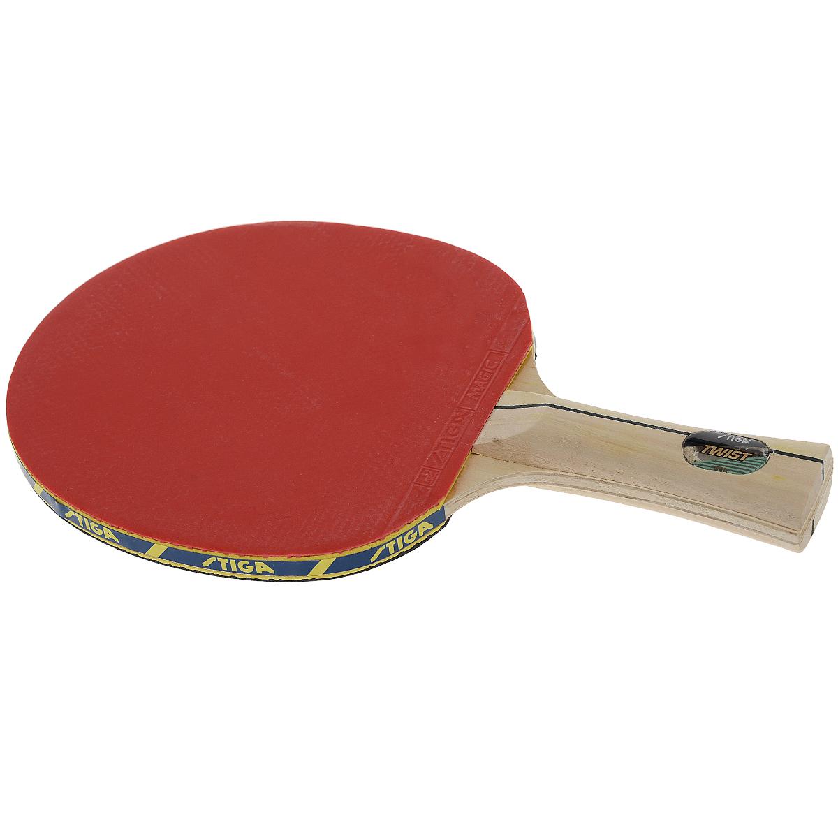 Ракетка для настольного тенниса Stiga Twist WRB26617Ракетка для настольного тенниса Stiga Twist WRB дает превосходное чувство мяча в сочетании с силой удара. Система WRB улучшает отскок, придает дополнительную силу удару и позволяет лучше чувствовать мяч.Основные характеристики:Контроль: 100.Скорость: 29.Кручение: 35.Характеристики указаны в расчете на диапазон от 0 до 100. Характеристики: Размер ракетки: 26 см х 15 см. Длина ручки: 10 см. Материал: дерево, резина. Размер упаковки: 26 см х 15 см х 2 см. Производитель: Китай. Артикул: 26617.