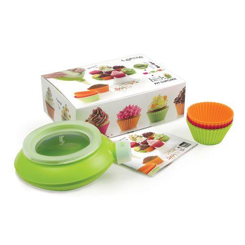 Набор Lekue Kit Cupcake: 6 силиконовых формочек + декоратор Decomax. 3000004SURM017 декоратор lekue decomax с 6 насадками цвет коричневый