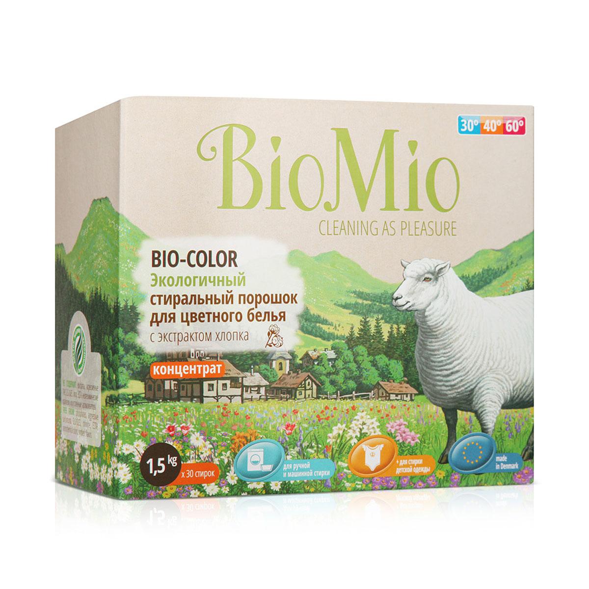 Стиральный порошок BioMio, для цветного белья, с экстрактом хлопка, 1,5 кгПЦ-415Экологичный стиральный порошок BioMio эффективно удаляет пятна и загрязнения, сохраняя структуру ткани и первозданный цвет. Подходит для ручной и машинной стирки. Концентрированная формула обеспечивает экономичный расход. Идеально подходит для стирки детского белья и одежды людей с чувствительной кожей. Полностью выполаскивается, исключает попадание на кожу моющих средств, способных вызыватьраздражение чувствительной кожи. Средство без запаха не содержит эфирных масел, что делает его абсолютно безопасным для детской одежды. Безопасен для планеты.Не содержит: фосфаты, агрессивные ПАВ, SLS/SLES, хлор, EDTA, нефтехимические красители, искусственные ароматизаторы. BioMio - линейка эффективных средств для дома, использование которых приносит только удовольствие. Уборка помогает не только очистить и гармонизировать свое пространство, но и себя, свои мысли, поэтому важно ее делать с радостью.Средства, созданные с любовью и заботой, помогут в этом и идеально справятся с загрязнениями, оставаясь при этом абсолютно безопасными и экологичными.Средства BioMio незаменимы, если в доме есть ребенок. Состав: 5-15% цеолиты, неионогенные ПАВ;Вес: 1,5 кг. Товар сертифицирован.