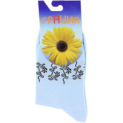 Носки женские Грация, цвет: голубой. М 1014. Размер 38/40 носки женские грация цвет светло серый h 003 размер 38 40