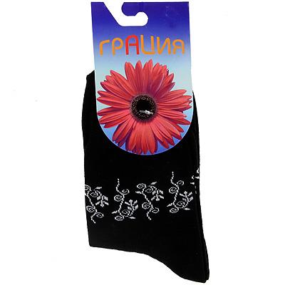 Носки женские Грация, цвет: черный. М 1014. Размер 38/40 носки женские грация цвет светло серый h 003 размер 38 40