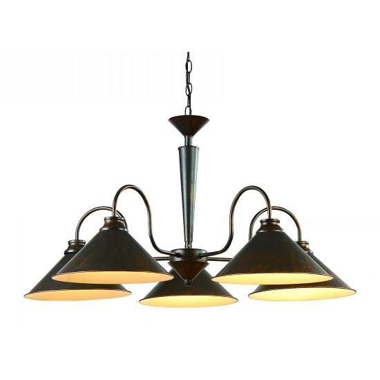 Подвесной светильник ARTELamp Cone A9330LM 5BR люстра на штанге arte lamp circolo a9519lm 5br