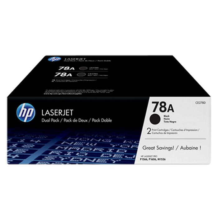 HP CE278AF картридж для LaserJet 1566/1606dn/1536dnfCE278AFУпаковка из 2 оригинальных лазерных картриджей HP CE278AF позволяет печатать и экономить больше. Получите профессиональное качество печати по более выгодной цене по сравнению с отдельными картриджами. Сохраняйте свою производительность и сократите время простоев, имея под рукой дополнительный картридж.