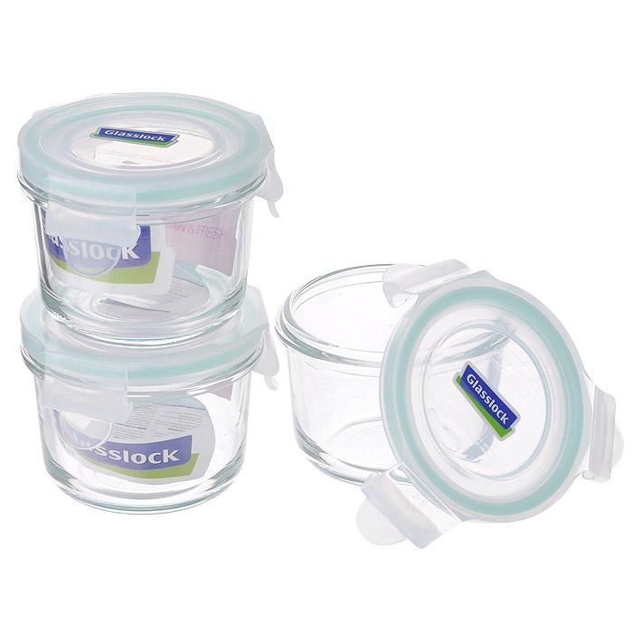 Набор круглых контейнеров Glass Lock, цвет: бирюзовый, 3 штZZ012690Набор Glass Lock состоит из трех круглых контейнеров одного объема. Изделия выполнены из закаленного ударопрочного стекла, что гарантирует прочность и долгий срок службы. Материал изделий абсолютно экологичный и безопасный для здоровья, не содержит BPA(бисфенола). При нагревании в микроволновой печи стекло не выделяет никаких вредных веществ. Контейнеры оснащены пластиковыми крышками с конструкцией, обеспечивающей герметичность и долгое сохранение свежести и аромата продуктов. Контейнеры идеально подходят для хранения и переноски продуктов, разогрева и приготовления в СВЧ-печи. Можно использовать в качестве салатников и для сервировки пищи.Контейнеры складываются друг в друга, поэтому их легко хранить, и они не займут много места на вашей кухне. Можно использовать в СВЧ-печи, холодильнике, посудомоечной машине и морозильной камере. Характеристики: Материал: пластик, стекло. Комплектация: 3 шт. Объем контейнеров: 150 мл. Размер контейнеров (по верхнему краю): 8 см х 8 см. Высота стенки: 6 см. Размер упаковки: 19 см х 19 см х 8,5 см. Артикул: ZZ012690.