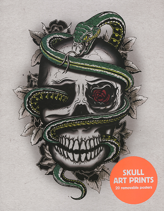 Skull Art Prints: 20 Removable Posters simple floral removable high quality decorative wall art sticker