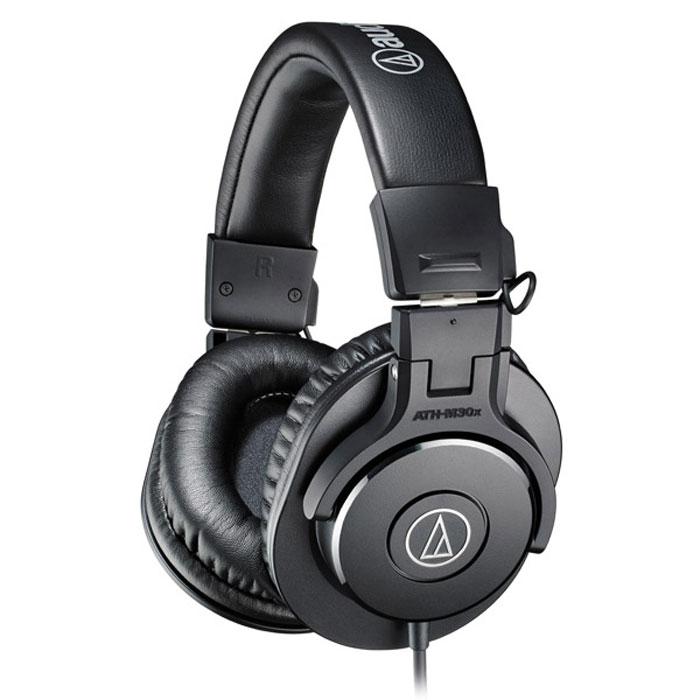 Audio-Technica ATH-M30X наушники15116965ATH-M30x – обновленная версия наушников ATH-M30 с исключительно чистым звучанием и улучшенной звукоизоляцией. Эти профессиональные наушники, которые особенно хороши в детализации средних частот, в первую очередь оценят профессионалы в области студийной записи и микширования. Модель стала более мобильной благодаря складной конструкции и более комфортной благодаря удобному широкому оголовью.
