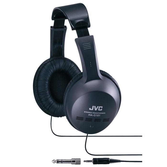 JVC HA-G101, Black наушникиHA-G101JVC HA-G101 - качественные накладные наушники с классическим оголовьем. Удобная конструкция и мягкие амбушюры обеспечивают долгое, комфортное ношение. Динамики передают чистый звук с выразительными низами и звонкими верхами. JVC HA-G101 отлично подходят как для прослушивания музыки всех жанров, радио, игр, так и для просмотра видеороликов и фильмов.