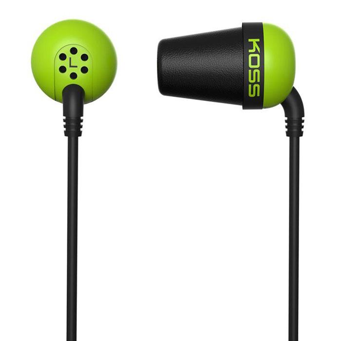 Koss The Plug, Green наушники15116976Модель Koss The Plug – легендарные вставные наушники, первые в своем роде. Они обеспечивают исключительно точное воспроизведение звука, глубокие басы уже с 10 Гц (!) и потрясающую шумоизоляцию, которую можно найти только в полноразмерных закрытых наушниках. Koss The Plug – компактные и легкие вставки, комфортные в ношении. Они идеально подходят для портативного аудио, особенно для прослушивания музыки на улице и в метро.