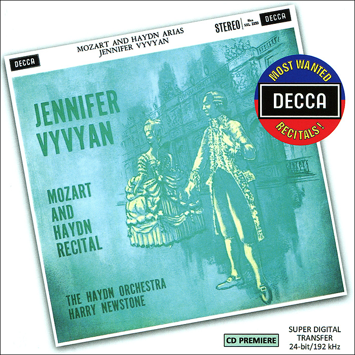Дженифер Вивиан Jennifer Vyvyan. Mozart And Haydn Recital mozart haydn and early beethoven – 1781–1802