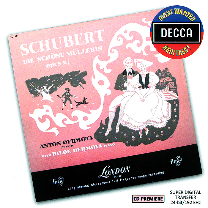 Антон Дермота,Хильде Дермота Anton Dermota, Hilde Dermota. Schubert. Die Schone Mullerin schone freunde german edition