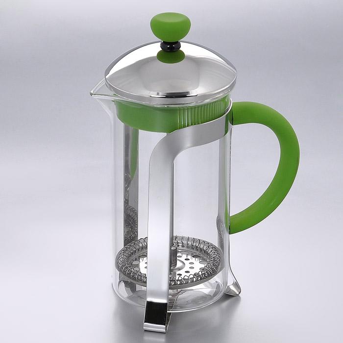 """Френч-пресс """"Mayer & Boch"""" позволит быстро и просто приготовить свежий и ароматный кофе или чай. Цветовая гамма подойдет даже для самого яркого интерьера. Френч-пресс изготовлен из высокотехнологичных материалов на современном оборудовании: - корпус изготовлен из высококачественного жаропрочного стекла, устойчивого к окрашиванию и царапинам; - фильтр-поршень из нержавеющей стали выполнен по технологии """"press-up"""" для обеспечения равномерной циркуляции воды; - удобная ручка выполнена из полипропилена. Практичный и стильный дизайн френч-пресса """"Mayer & Boch"""" полностью соответствует последним модным тенденциям в создании предметов бытового назначения. Диаметр (по верхнему краю): 7,5 см.  Высота (с учетом крышки): 18 см."""