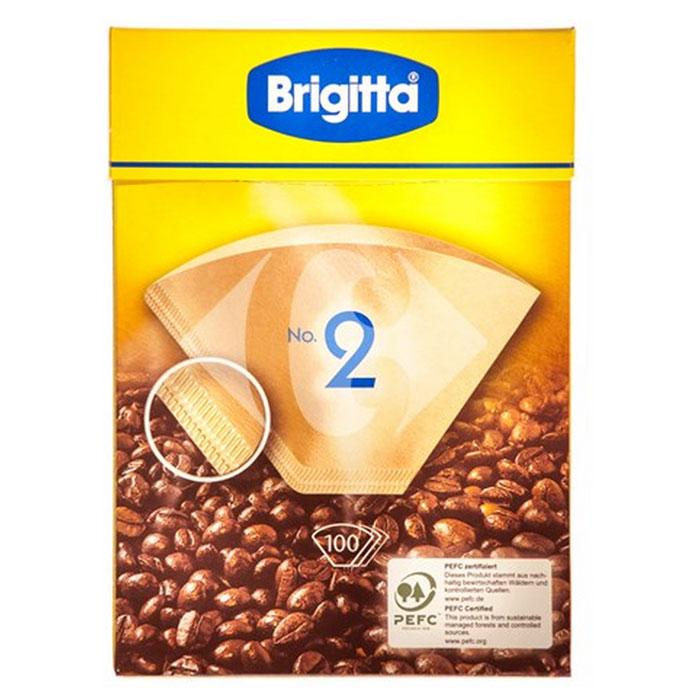 Melitta Brigitta No.2 фильтры бумажные, 100 шт.0200145Кофе-фильтры Melitta Brigitta No.2 сделаны из высококачественной бумаги, не придающей посторонний вкус кофе. Двойной шов обеспечивает оптимальную прочность фильтра. Постоянный контроль качества производства гарантирует получение насыщенного аромата свежесваренного кофе.