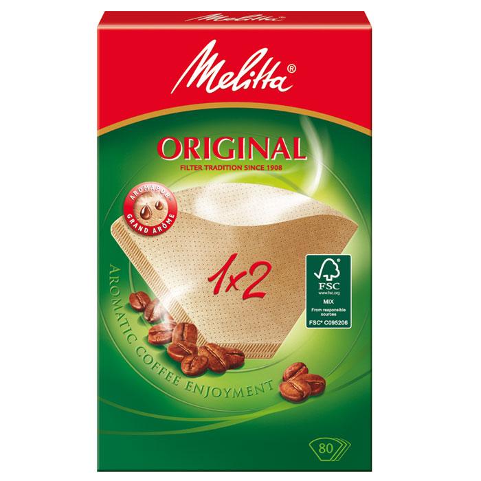 Melitta Original, Brown фильтры для заваривания кофе, 1х2/80 цена и фото