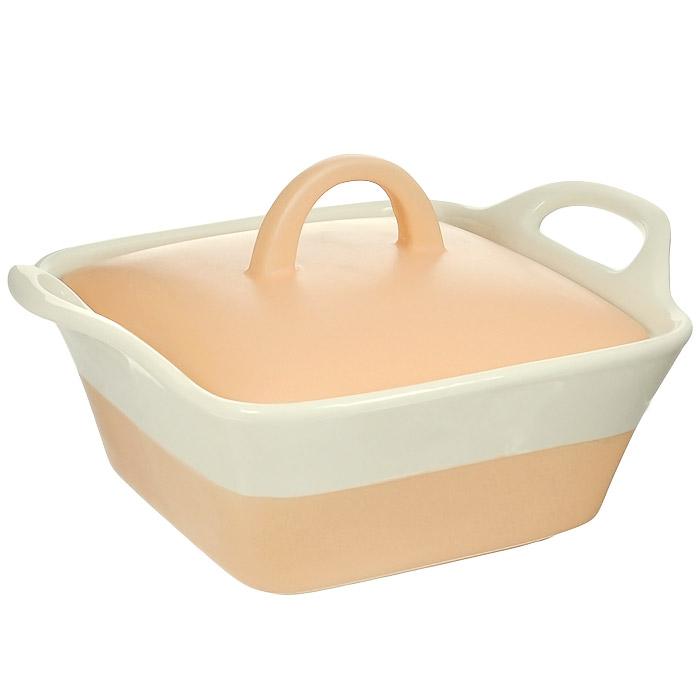 Кастрюля керамическая Mayer & Boch с крышкой, цвет: оранжевый, бежевый, 680 мл. MN21807MN21807Кастрюля Mayer & Boch изготовлена из жаропрочной керамики, покрытой цветной глазурью. Керамическая посуда считается не только изысканной, но еще и полезной, так как изготавливается из экологически чистой красной глины, без химических добавок. За счет этого пища сохраняет полезные свойства и витамины, а также приобретает бесподобный вкус и аромат. Жаропрочная керамика обладает высокой прочностью и долгим сроком службы, она равномерно распределяет тепло и сохраняет первоначальный вкус продуктов. Гладкая, идеально ровная поверхность легко чистится. Кастрюля оснащена удобными ручками и крышкой, плотно прилегающей к стенкам посуды. Можно использовать на газовой и электрической плите, в микроволновой печи и духовом шкафу. Можно мыть в посудомоечной машине. Характеристики: Материал: керамика. Объем: 680 мл. Цвет: оранжевый, бежевый. Внутренний размер: 14 см х 14 см. Размер (с учетом ручек): 22 см х 17 см. Высота стенки: 7,5 см. Толщина стенки: 6-7 мм. Размер упаковки: 24,5 см х 10 см х 17,5 см. Артикул: MN21807.