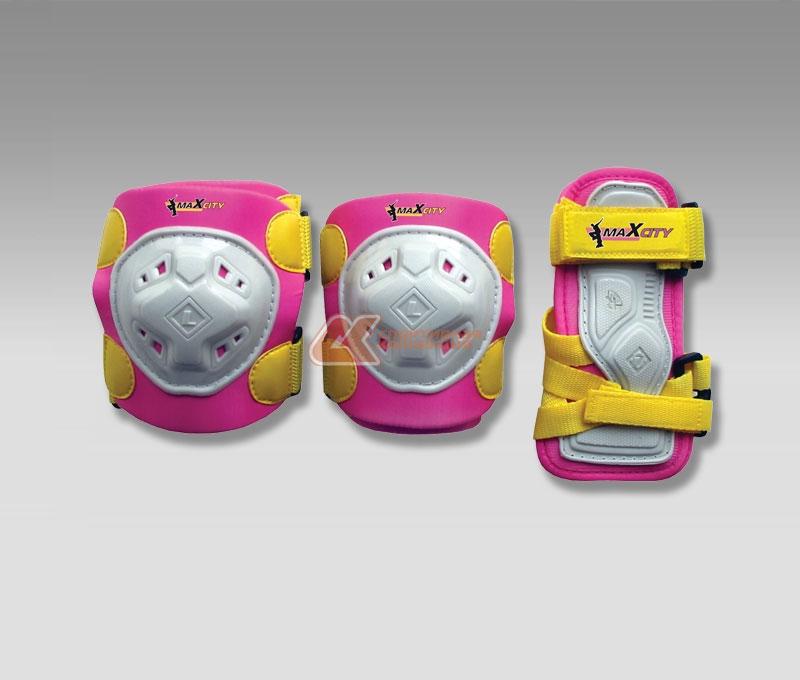 Защита роликовая MaxCity Game, цвет: розовый. Размер L самокат maxcity mc fusion