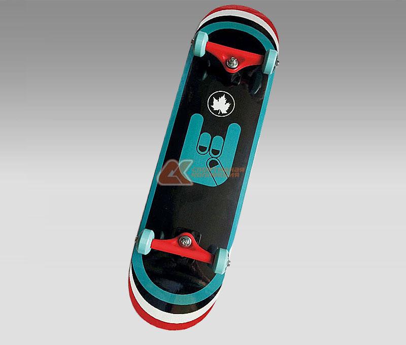 """Скейтборд MaxCity """"Rock"""", цветной принт, дека 79 см х 20 см"""