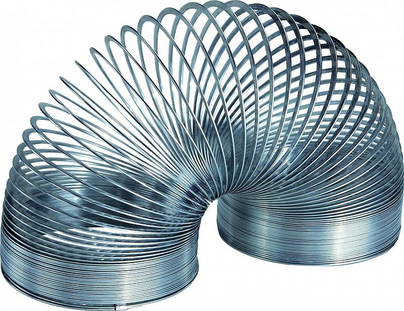 Пружинка Slinky, металлическая, в ретро-коробочке slinky malinki