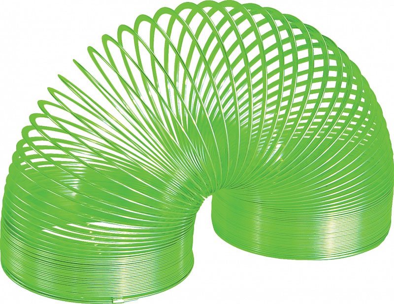 Игрушка-пружинка Slinky, металлическая, цвет: зеленый