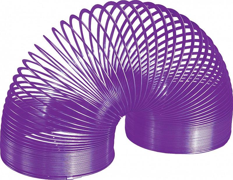 Игрушка-пружинка Slinky, металлическая, цвет: фиолетовый пружинка слинки металлическая купить