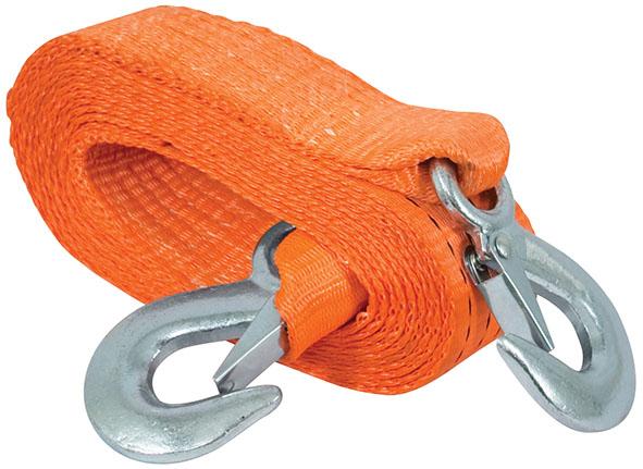Трос буксировочный FIT, 4,5 м х 50 мм64713Буксировочный трос обязательно должен быть в каждом автомобиле. Оннеобходим на случай аварийной ситуации или если ваш автомобиль застрял на бездорожье.Трос FIT изготовлен из прочного полиэстера, а крюки из инструментальной стали. Характеристики: Материал: полиэстер, инструментальная сталь. Длина: 4,5 м. Ширина: 5 см. Максимальная нагрузка: 3 т. Цвет:оранжевый.
