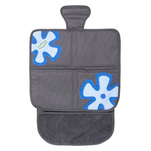 Защитная накидка под бустер Смешарики, цвет: серый, синий защитная накидка смешарики под детское кресло цвет серый 118 х 48 см
