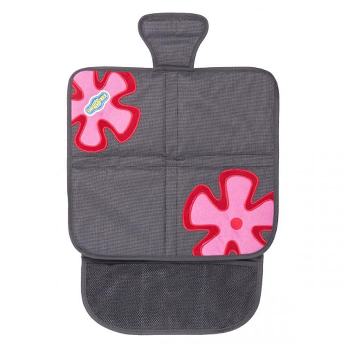 Защитная накидка под бустер Смешарики, цвет: серый, красный защитная накидка смешарики под детское кресло цвет серый 118 х 48 см