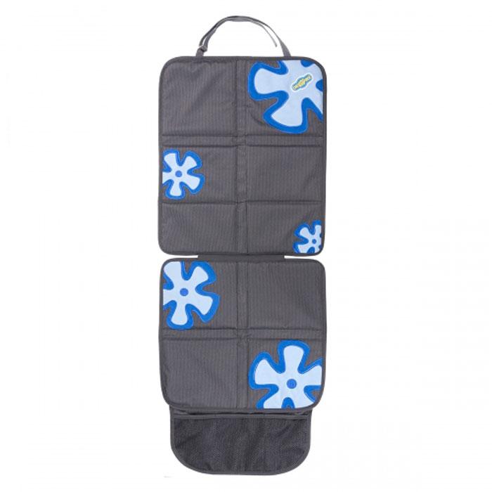 Защитная накидка Смешарики под детское кресло, цвет: серый, синий, 118 см х 48 смSM/COV-020 GY/BLОригинальная накидка позволяет использовать детское автокресло, не испортив автомобильное сиденье. Прочный материал защищает от вмятин, дырок и загрязнений. Для более надежной фиксации в накидках под детское автокресло используется специальный язычок и антискользящее покрытие на тыльной стороне. Яркие веселые рисунки отлично сочетаются с такими же позитивными детскими автокреслами Смешарики. Наличие удобного сетчатого кармана в накидке под детское автокресло делает его более функциональным.