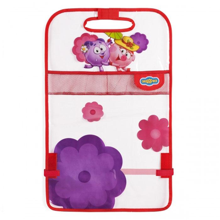 Кикмат Autoprofi Смешарики: Нюша, цвет: красный, розовыйSM/KMT-010 NyushaКикмат - изобретение малоизвестное, но при этом незаменимое для всех, кто перевозит детей в автокресле. Он представляет собой защитную накидку, которая одевается при помощи липучек на тыльную часть переднего сиденья, защищая его от загрязнений.Дети, даже пристегнутые в автокресле, неугомонны и заставить их не пачкать ботинками автомобильное сиденье сложно. Гораздо проще защитить само сиденье, а для этого кикмат - незаменимый автоаксессуар. Он сделан из ПВХ, поэтому его легко очистить обычной тряпкой. Оригинальная яркая расцветка кикмата превосходно сочетается с остальной продукцией под брендом Смешарики.