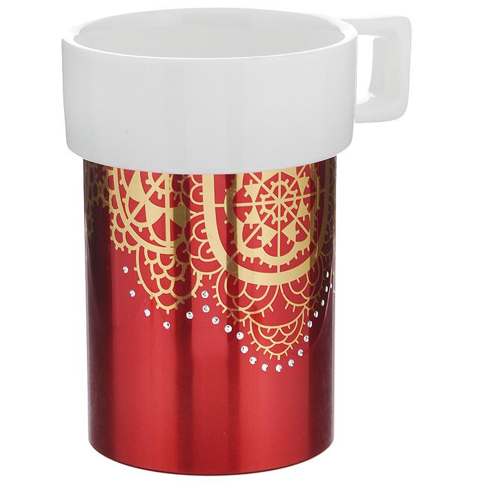 Кружка Amber Porcelain Ажурная салфетка, 220 мл кружка amber porcelain сердечки 220 мл