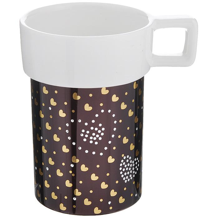 Кружка Amber Porcelain Сердечки, 220 мл214182Кружка Amber Porcelain Сердечки, выполненная из фарфора, имеет оригинальную форму и яркий дизайн. Дноизделия оснащено силиконовой накладкой.Такая кружка порадует васдизайном и функциональностью, а пить чай или кофе из нее станет ещеприятнее.