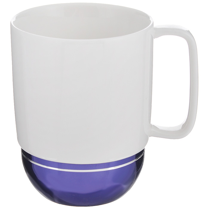 Кружка Amber Porcelain, цвет: белый, фиолетовый, 350 мл214186Кружка Amber Porcelain, выполненная из фарфора, имеет оригинальнуюформу. Дноизделия оснащено силиконовой накладкой.Такая кружка порадует васдизайном и функциональностью, а пить чай или кофе из нее станет ещеприятнее.