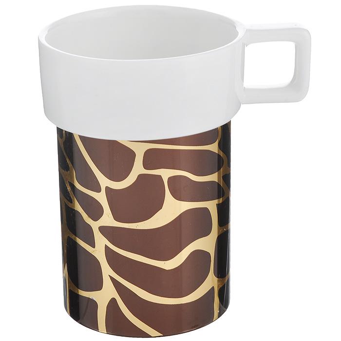 Кружка Amber Porcelain Жираф, цвет: белый, золотистый, коричневый, 220 мл214184Кружка Amber Porcelain Жираф, выполненная из фарфора, имеет оригинальную форму и дизайн. Дно изделия оснащено силиконовой накладкой.Такая кружка порадует васдизайном и функциональностью, а пить чай или кофе из нее станет ещеприятнее.