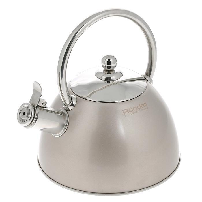 Чайник Rondell Nelke, со свистком, 2 лRDS-103Чайник Rondell Nelke изготовлен из высококачественной нержавеющей стали 18/10, благодаря чему не подвержен коррозии, устойчив к органическим кислотам, долговечен и прост в уходе. Капсулированное дно чайника способствует быстрому закипанию воды даже при небольшой мощности конфорок. Внешнее покрытие позволяет легко ухаживать за чайником и обеспечивает безупречный внешний вид. Наличие свистка позволяет следить за кипением чайника. Свисток открывается при помощи клапана.Стильный дизайн изделия украсит любую кухню. Чайник подходит для использования на всех видах плит, включая индукционные. Нельзя мыть в посудомоечной машине. Характеристики:Материал: нержавеющая сталь 18/10. Объем: 2 л. Диаметр основания чайника: 20 см. Высота чайника (без учета крышки и ручки): 12 см. Высота чайника (с учетом ручки): 23 см. Посуда Rondell совсем недавно появилась на российском рынке, но уже прекрасно себязарекомендовала. Эту посуду по достоинству оценили тысячи любителей кулинарии, арекомендации профессионалов - шеф-поваров многих ресторанов и ведущих популярныхкулинарных программ служат дополнительным весомым аргументом в ее пользу.Профессиональные технологии, изысканный дизайн и широкий ассортимент делают посудуRondell исключительно привлекательной для всех, кто любит и умеет готовить.