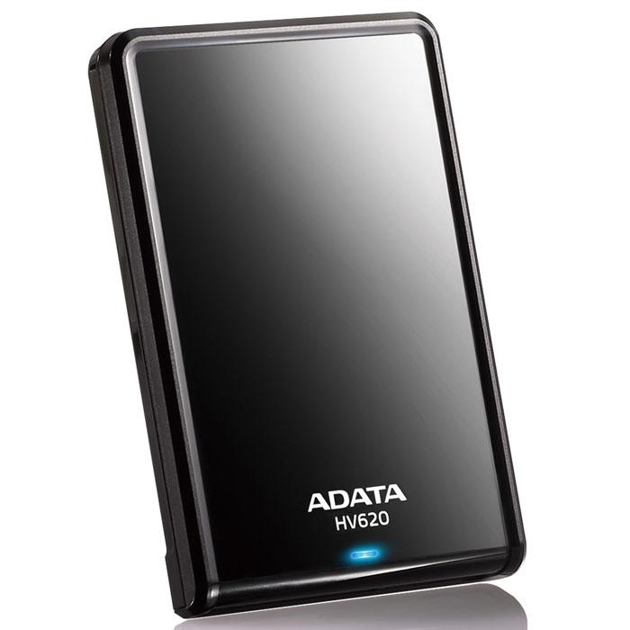 ADATA HV620 2TB USB3.0, Black внешний жесткий дискAHV620-2TU3-CBKВнешний жесткий диск ADATA HV620 имеет емкость хранения до 2 терабайт. Его гладкий глянцевый корпус приятен на вид и легко помещается в руке. Сверхскоростной интерфейс спецификации USB 3.0 SuperSpeed обеспечивает высокое быстродействие и питание устройства, требуемые для традиционного хранения и поддержки программ резервной архивации данных.Выпуклые кромки по краям накопителя защищают поверхность от царапин, когда диск находится в горизонтальном положении. Изящные контуры и гладкая светоотражающая поверхность диска HV620 подчеркивают тонкий и элегантный внешний вид устройства. Он идеально подойдет всем, кто желает поддерживать ауру профессионализма и технического совершенства. Яркий синий светодиод позволяет узнать, что данные считываются или записываются на HV620. Это поможет вам устранить разъединение во время операций чтения/записи.Интерфейс связи USB 3.0 жесткого диска HV620 обеспечивает скорости чтения/записи до 90 мегабайт в секунду. По сравнению с USB 2.0 по скорости архивации данных или считывания и записи файлов, обеспечивается значительное сокращение (до 70%) времени передачи данных. Полная архивация даже очень больших файлов и наборов данных может выполняться быстрее и удобнее.