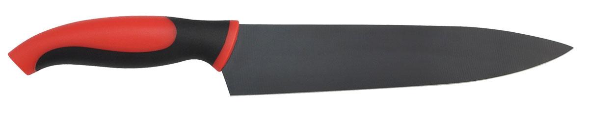 Нож шеф-повара Bohmann, 20 см5206BHНож шеф-повара Bohmann изготовлен из высококачественной нержавеющей стали с антиприлипающим покрытием черного цвета. Сбалансированность ножа обеспечивает приложение минимальных усилий при резке. Лезвие ножа не впитывает запахи и не оставляет запаха на продуктах. Эргономичная ручка ножа выполнена из пластика.Нож с длинным широким лезвием позволяет легко рубить капусту, овощи, зелень, резать замороженное мясо, рыбу и птицу. Такой нож займет достойное место среди аксессуаров на вашей кухне.