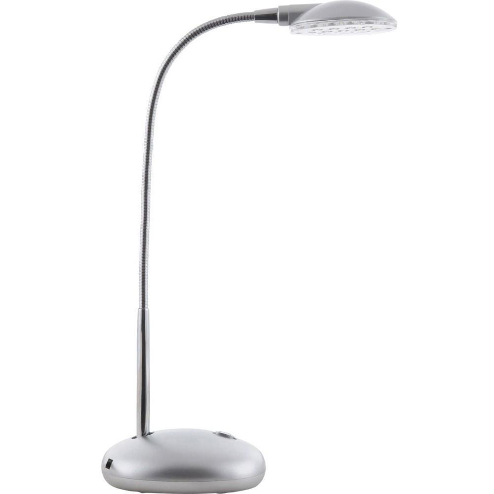 58370 Настольная лампа ET58370Globo Настольная лампа 58370. Эта маленькая, но очень симпатичная настольная лампа станет вашим верным помощником и украсит интерьер домашнего кабинета или же офиса. С лампой удобно читать, работать с бумагами или за компьютером. Подвижная ножка позволяет отрегулировать высоту подачи света в нужном направлении. Для вашего удобства так же предусмотрен выключатель, расположенный на основании корпуса электроприбора. Цвет модели гармонично сочетается с современной офисной техникой.