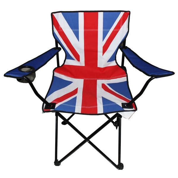 Стул складной Экспедиция Британский флаг420021Long live the queen! Да здравствует королева, а также король, сидящие на троне! Этот стильный и яркий туристический стул в дизайне британского флага станет вашим дорожным фаном и личным троном на долгие годы. Как и подобает королевскому стулу, он легкий, но надежный, может удерживать вес до 130 кг, выполнен в эргономичном дизайне, быстро складывается и раскладывается, снабжен удобными подлокотниками и подстаканником. Теперь любой будет знать, что место над британским флагом - только ваше и ничье другое!