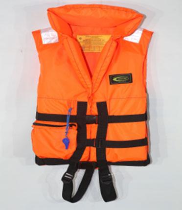 Жилет спасательный Vostok с воротником, цвет: оражневый. Размер 52-56, вес до 100 кг жилет спасательный плавсервис hunter цвет оранжевый размер 48 52 вес до 80 кг