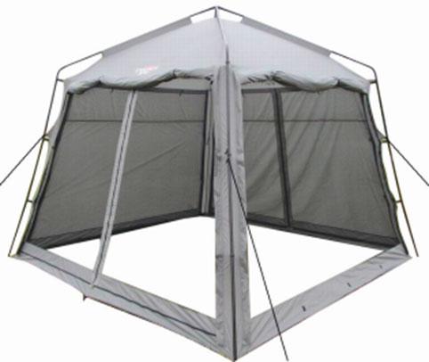 Тент Campack Tent G-3501W с ветро-влагозащитными полотнами37651Модель G-3501W представляет собой компактный аналог самой популярной модели последних трех лет G-3601W.Четырехгранный тент с внешним металлическим каркасом. Идеально подойдет для размещения столовой иликухни. Размер тента 3 на 3 метра, высота - 2,5 метра в коньке, позволяет взрослому человеку находиться внутрив полный рост. Тент оснащен по периметру москитной сеткой, для надежной защиты от надоедливых насекомых.Дополнительные полотна позволяют защитить от дождя и ветра в непогоду. В жаркую погоду G-3501W отличновентилируется. Тент имеет два входа. Для установки или разборки вам понадобится минимум времени. Конструкция каркаса не предусматривает изгибаемых элементов, которые со временем имеют свойство разрушаться. Кроме того каркас выполнен из усиленных труб, с толщиной стенки 0,8 мм. А это значит, что ваше приобретение будет радовать вас долгое время. Проклеенные швы гарантируют герметичность и надежность в любой ситуации. Характеристики: Размер тента (ДхШхВ): 300 см х 300 см х 250 см. Ткань тента: 190T Taffeta. Сетка: No-See-Um Mesh. Каркас:сталь 16 мм, 19 мм и 25 мм.
