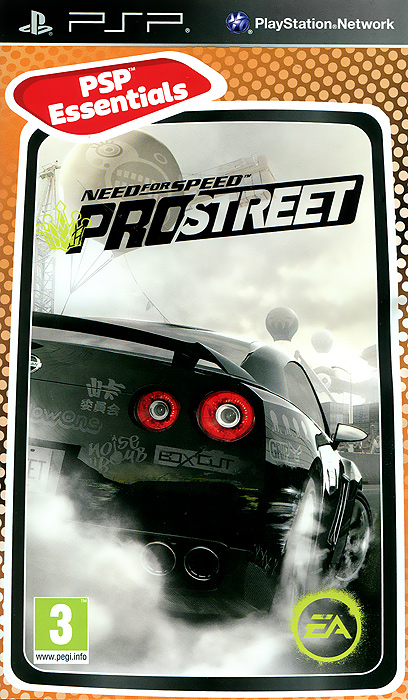 Need for Speed Pro Street. Essentials (PSP), EA Black Box