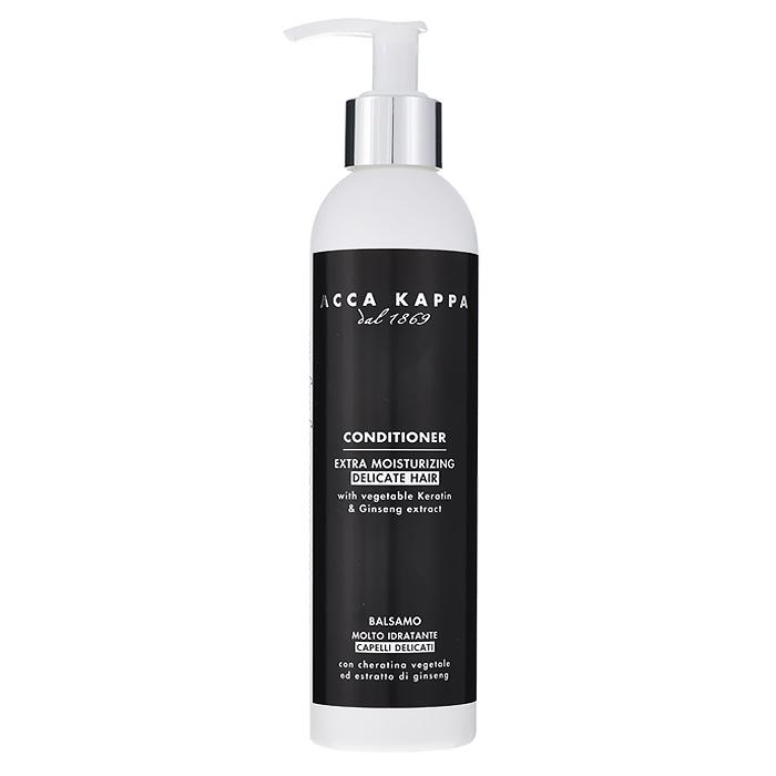 Acca Kappa Кондиционер для волос Белый Мускус, 250 мл853260Кондиционер для волос Acca Kappa Белый Мускус - натуральный комплекс растительных масел, экстрактов и витаминов для максимально естественного питания и защиты волос.Чистые и нежные ноты Белого Мускуса, получены гармоничным сочетанием эфирных масел двух средиземноморских растений: лаванды, расслабляющее и успокаивающее действие которой известно с древнейших времен, и можжевельника, имеющего аромат древесины и ягоды. Этот аромат имеет сладкие, теплые и чувственные ноты с легким оттенком дерева, амбры и мускуса. Характеристики: Объем: 250 мл. Производитель: Италия. Товар сертифицирован.