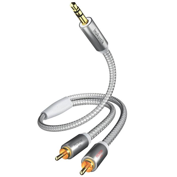Inakustik Premium Jack RCA аудиокабель 3,5 мм-2 RCA, 3 м (00410003)4001985507894Аудиокабель Inakustik Premium Jack RCA с двойным экранированием гарантирует качественную передачу звука при подключении MP3-плеера (iPod), ноутбука или персонального компьютера к усилителю или аудио/видео ресиверу.