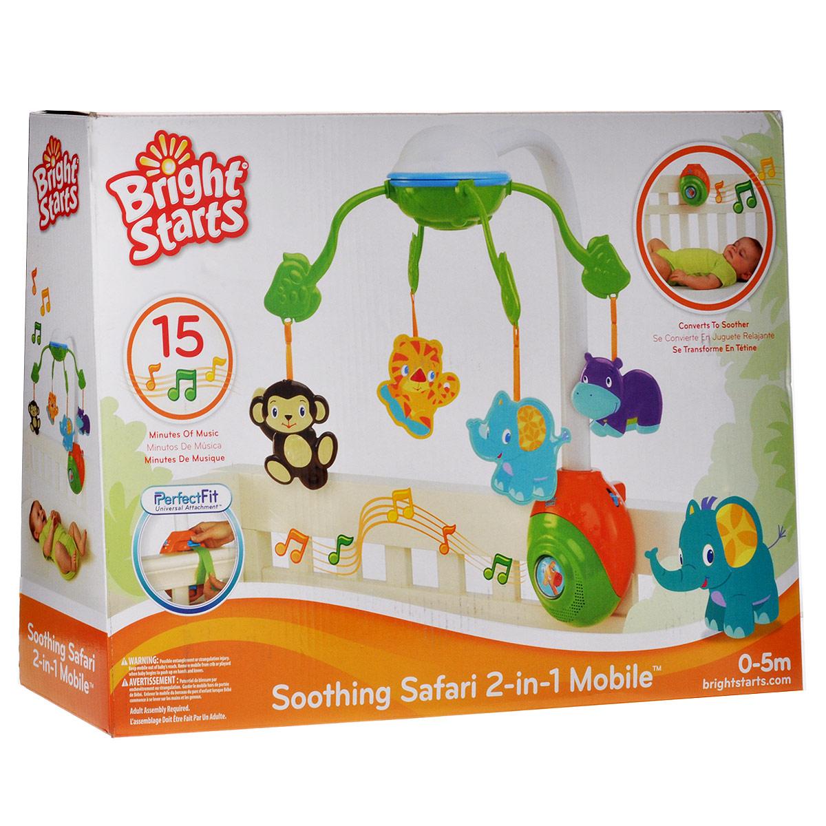 Музыкальный мобиль Bright Starts  Сафари  - Игрушки для малышей
